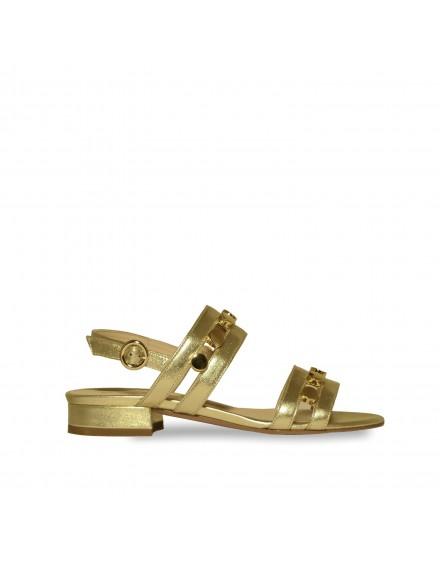 Sandales platino